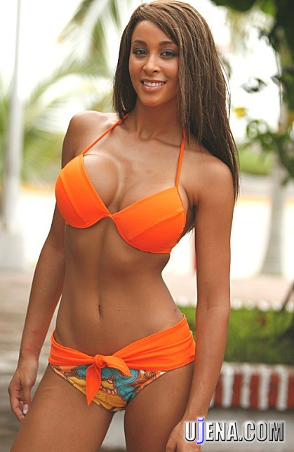 Well an orange bikini is a sure way to do this.