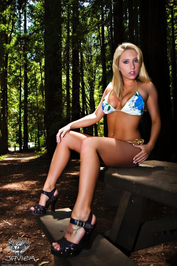 bikini legs heels