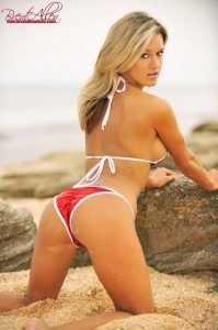 casey lucky bikini