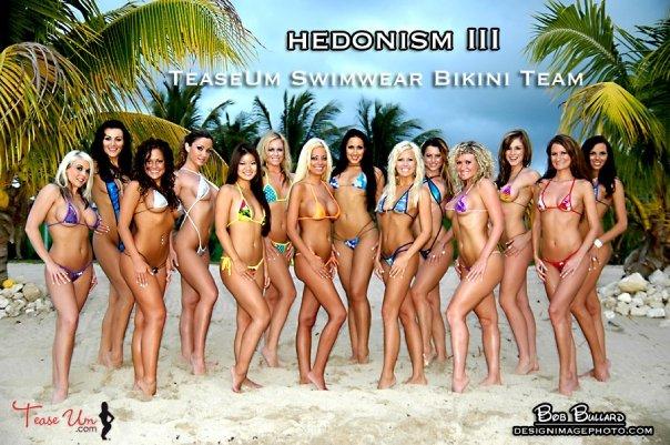 Swedish bikini team girls think