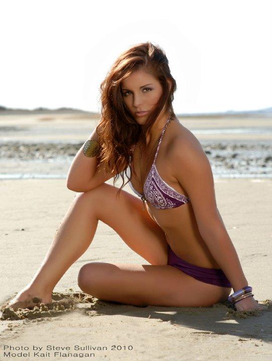 Young model in bikini all became