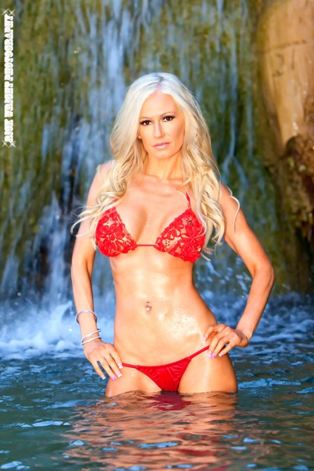 bikini modeling waterfall full shoot set 2