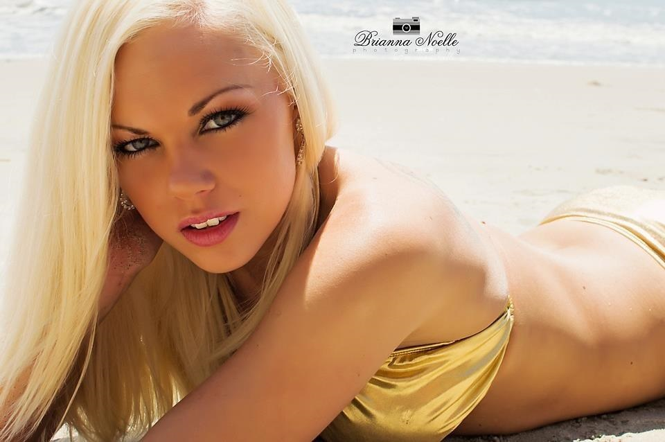 bikini model blonde closeup shot golden