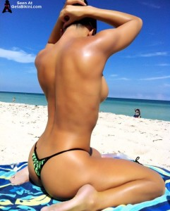 topless nude bikini beach girls posing models
