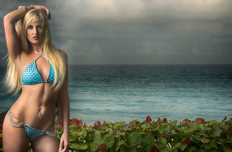 bikini background desktop blonde sexy