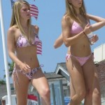young pink lipstick bikini beach teenies public hidden