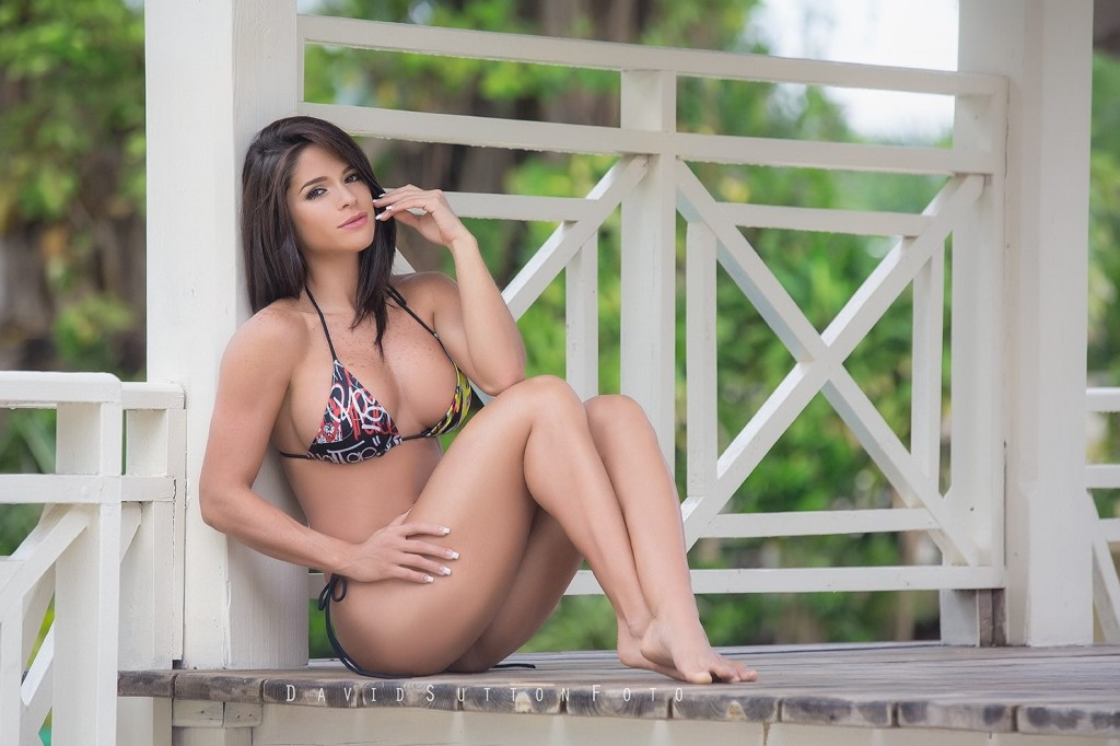 bikini model porch barefoot country girl