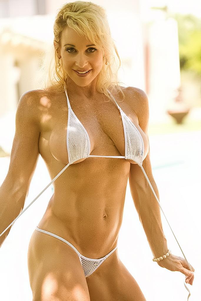 mom with micro bikini