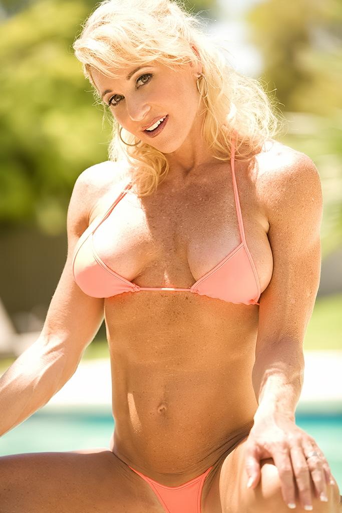 Pretty blonde milf tammy tries out new thongs and bikini